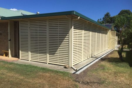 Slatting on the outside of a house - Privacy Screens Newcastle, NSW